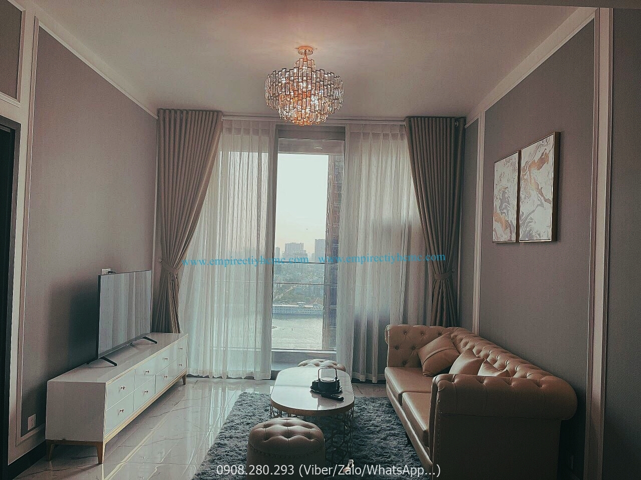 cho thue can ho 1 phong ngu view song tai empire city